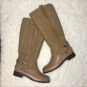 NWT Schuler & Sons Woven Leather Riding Boots